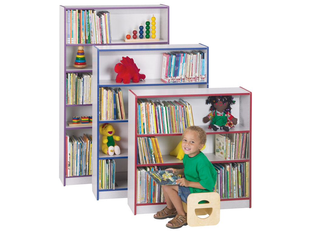 RAINBOW ACCENTS®  BOOKCASE - 3 sizes HIGH - 8 colors by Jonti Craft