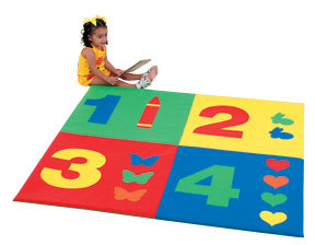 1-2-3-4 KIDS PLAY ACTIVITY MAT (5 foot square)