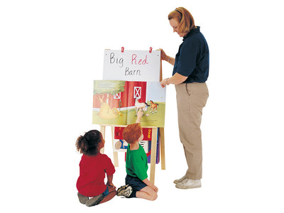 TEACHERS' EASEL - STANDARD - CHALKBOARD/Write-n-Wipe  by Jonti Craft