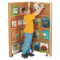 MOBILE LIBRARY BOOKCASE - 2 SECTIONS by Jonti Craft