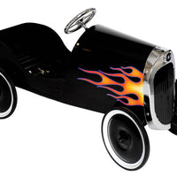 34 Classic Black Hot Rod Metal Pedal Car
