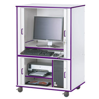 RAINBOW ACCENTS® EURO-COMPUTER CABINET - 9 Colors by Jonti Craft