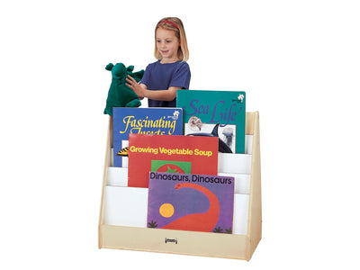 MULTI PICK-a-BOOK STAND - 2 SIDED Book Display,Optional Casters by Jonti Craft