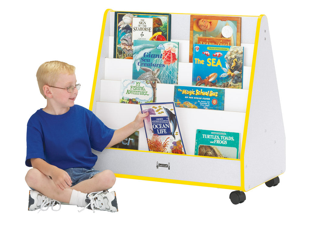 RAINBOW ACCENTS® MOBILE PICK-a-BOOK STAND - 1 SIDED - 9 Colors by Jonti Craft