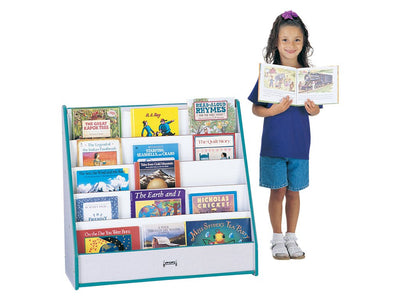 RAINBOW ACCENTS® FLUSHBACK PICK-a-BOOK STAND - 1 SIDED/5 Shelves - 9 Colors by Jonti Craft