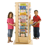 REVOLVING LITERACY TOWER 4 SIDED BOOKDISPLAY- LARGE by Jonti Craft