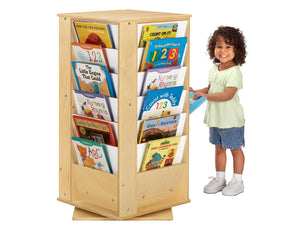 REVOLVING LITERACY TOWER - 4 SIDED BOOKDISPLAY SMALL by Jonti Craft