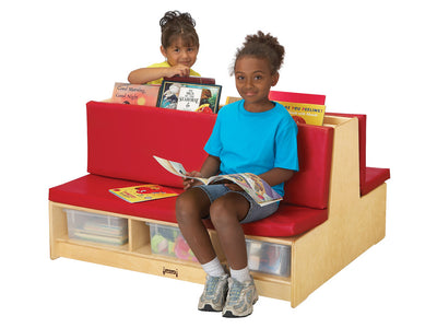 READ-a-ROUND - Double Sided COUCH w/Storage - RED by Jonti Craft
