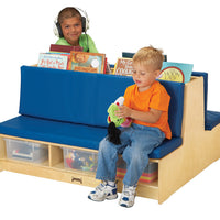 READ-a-ROUND - Double Side COUCH w/Storage - BLUE by Jonti Craft