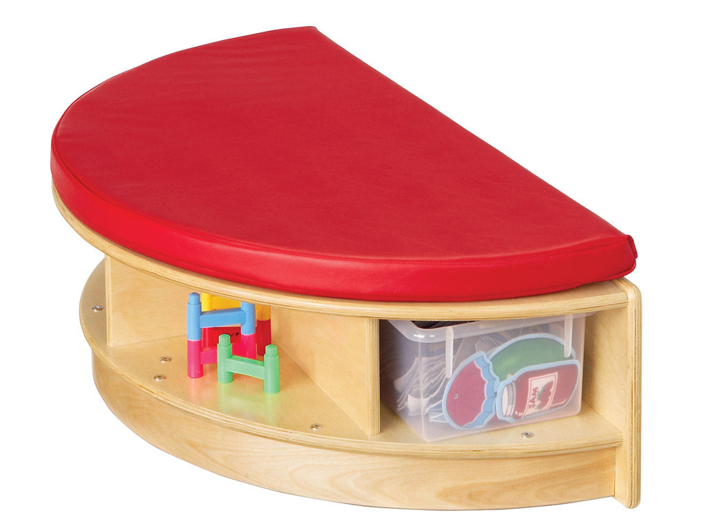 READ-a-ROUND - SEMI Bench w/Storage - RED by Jonti Craft