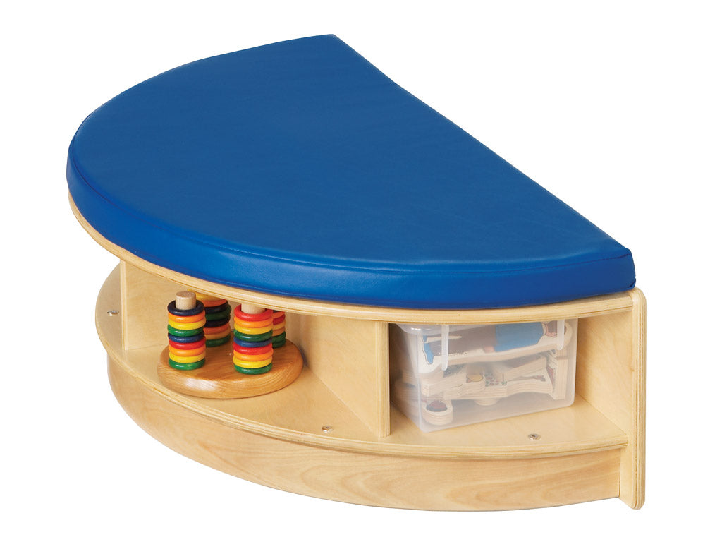 READ-a-ROUND - SEMI Bench w/Storage- BLUE by Jonti Craft