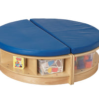 READ-a-ROUND - ISLAND 2 Semi Benches w/Storage- BLUE by Jonti Craft