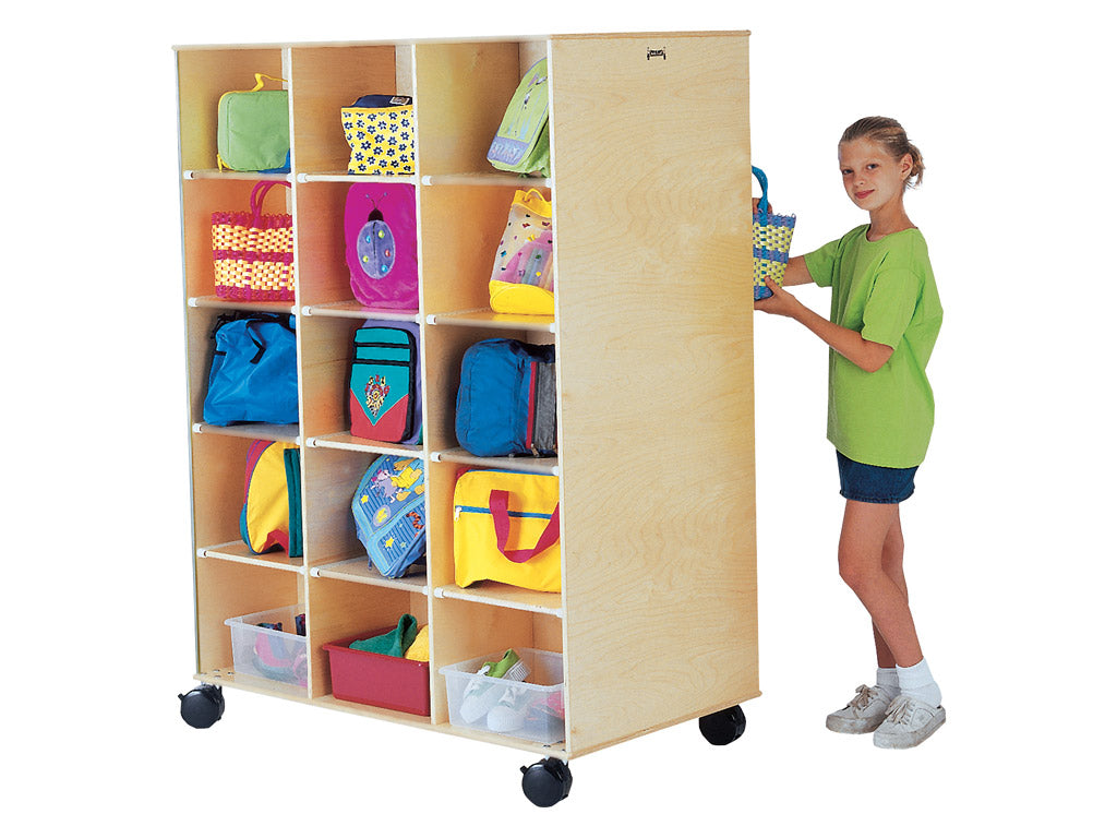 Daycare Mobil Storage Cube Double Sided-BIG TWIN - 30 by Jonti Craft