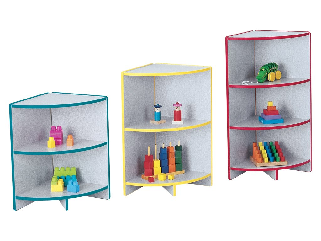 RAINBOW ACCENTS® KYDZCURVES® - 3 CORNER Shelf - 9 Colors-3 Sizes by Jonti Craft