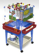 4 Station Space Saver Easel w/Mega-Tray in Blue or Sandstone