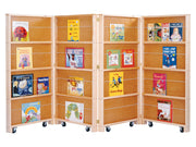 MOBILE LIBRARY BOOKCASE - 4 SECTIONS by Jonti Craft