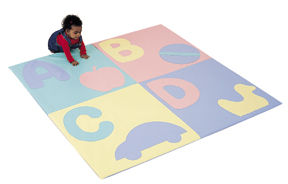ABC TODDLER CRAWLY MAT-PASTEL