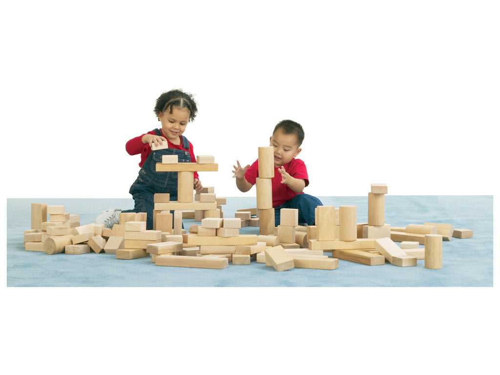 ABEL BLOCK SET; 154 PIECES, 4 SHAPES by Jonti Craft