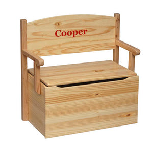 Child Toybox-Bench Toy Box, Made in US, Personalization Available