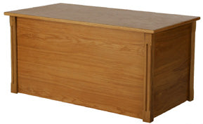 Handcrafted Large Blanket  Wooden Toy Chest/Hope Box in Natural Oak-Made in USA