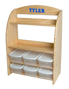 Children's Bookcase/toy Organizer w/bins, Personalization available