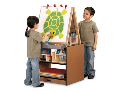 SPROUTZ® 2 STATION EASEL - BLACK,CARAMEL,NAVY or RED by Jonti Craft