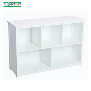 Classic White Kids Bookshelf / Storage Furniture, Optional Bins