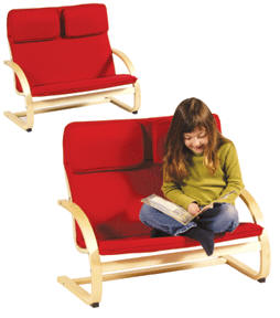 Children's furniture- Kiddie Couch, Red or Blue
