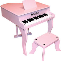 Children's Piano - 30 Key Fancy Baby Grand Piano by Schoenhut, Red,Pink,Black or White