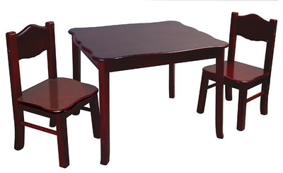 Childrens Classic Espresso Table & Chairs Set