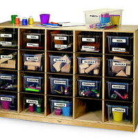 Cubby Storage Cabinet w/20 Trays-Made in USA