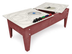 The Complete Railroad System, Toddler Table/Red Blue Green Sandstone , Route Board &Trains