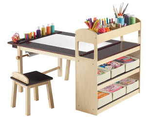 Deluxe Art Center-Art Table,Stools&Storage Bins