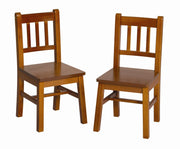 Childrens Honey Oak Set of 2 Extra Chairs