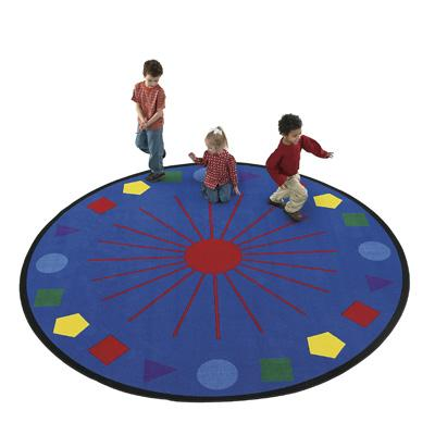 Flagship Kids Carpets-Shapes Galore™ Kids Educational Round Rug
