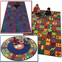 Flagship Kids Carpets-Floors That Teach™ Kids Educational Rug, Round or Square