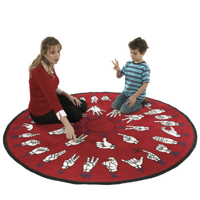 Flagship Kids Carpets-Hands That Teach™ Kids Educational Round Rug