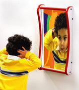 Waiting Room Toys- Funhouse Faces Giggle Wall Mirror, 3 Sizes, Made in USA