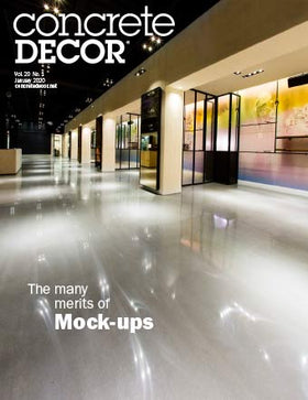 2001 - January 2020 Issue of Concrete Decor Magazine