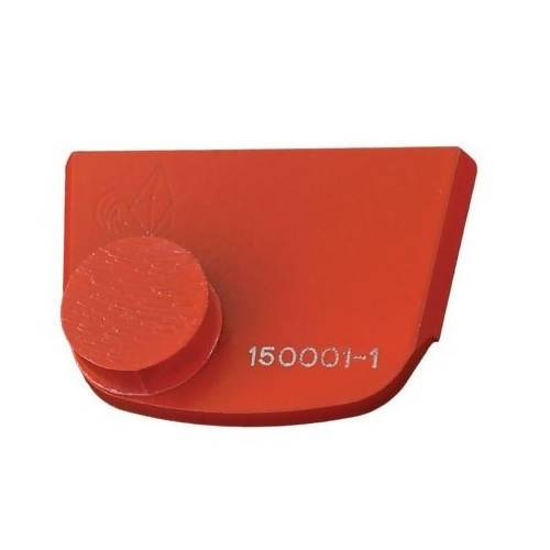 X-Series - Quick Change - Trapezoid One Button Tooling for Concrete Concrete Polishing HQ 6 Red/Hard