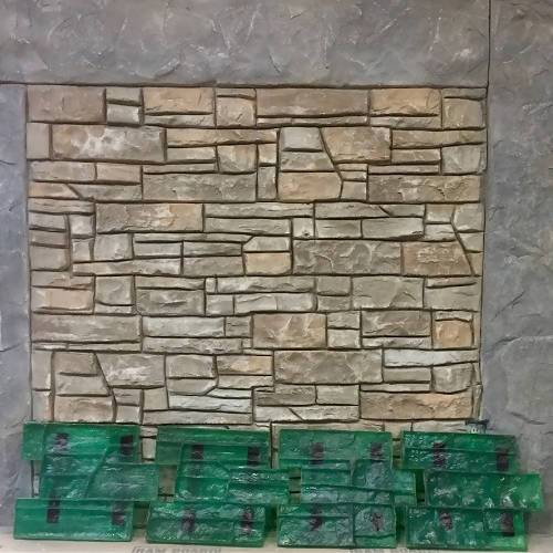 Deep Texture Drystack Concrete Overlay Wall Stamp Set Stone Edge Surfaces