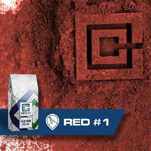 1339 - Red #1 – Raw Pigment Cement Colors 20 lbs