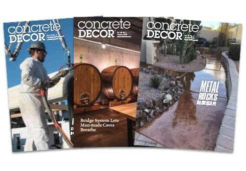 Concrete Decor Magazine Subscription Magazine Subscription Concrete Decor Store