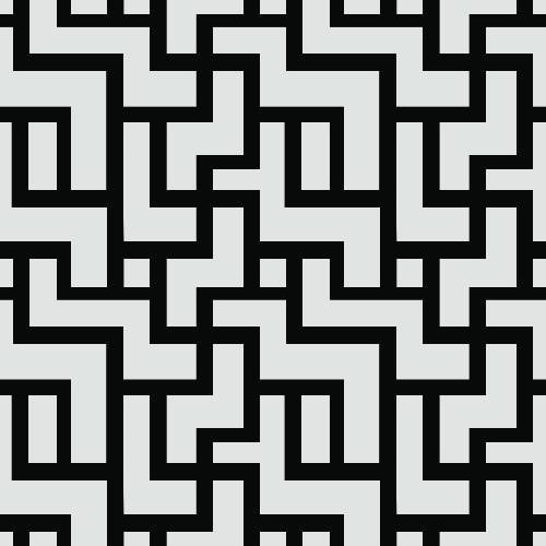 Labyrinth Brick Pattern - Adhesive-Backed Stencil supplies FloorMaps Inc. Positive