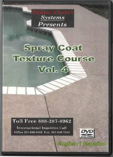 Spray Coat Texture Course - Vol. 4 Renew-Crete Systems