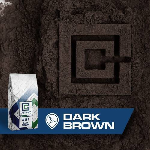 321 - Dark Brown – Raw Pigment Cement Colors