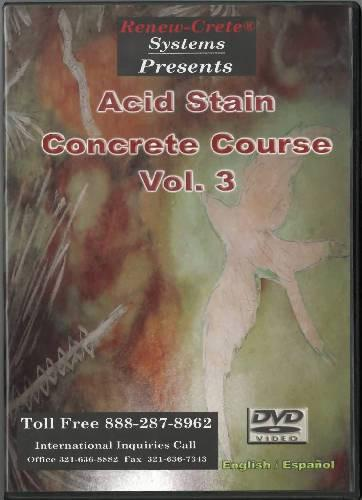 Acid Stain Concrete Course - Vol. 3 Renew-Crete Systems