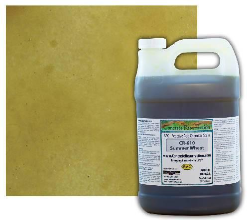 Concrete Resurrection Reactive Acid Concrete Stain Summer Wheat (Interior Color Only) Engrave-A-Crete
