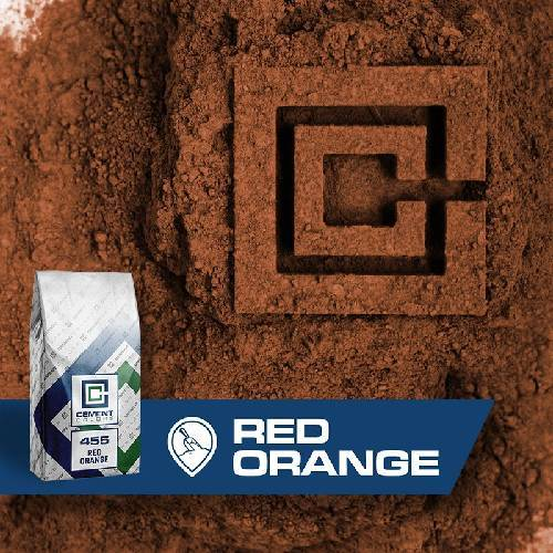 455 - Red/Orange – Raw Pigment Cement Colors