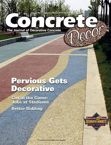 Vol. 10 Issue 2 - February/March 2010 Back Issues Concrete Decor Marketplace